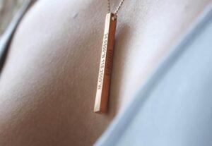 Egyedi gravírozott nyaklánc